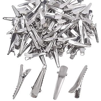 100X 4.0 Cm Silver Alligator Hair Clips Hair Pins Hold OX