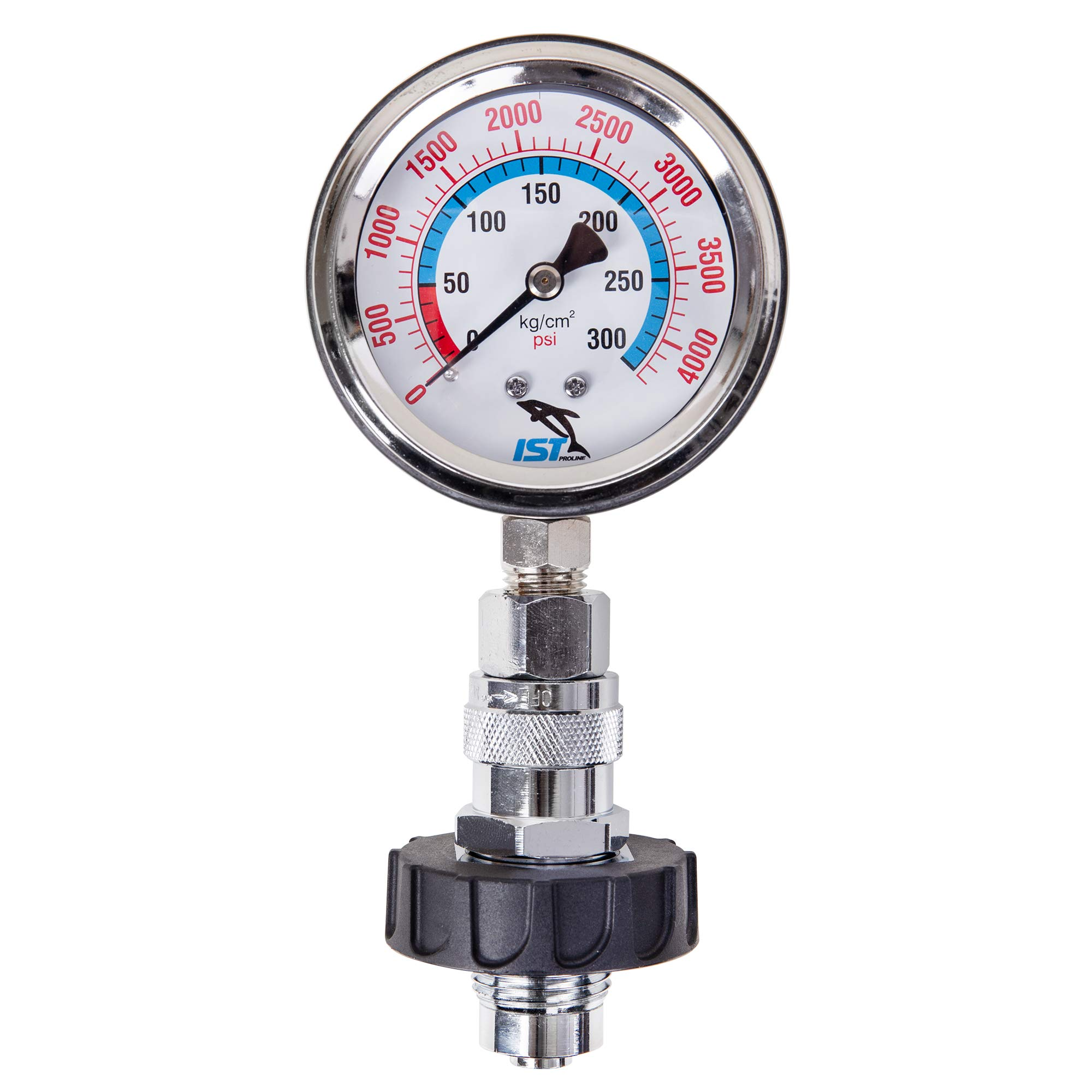 IST CT-1 Premium DIN Tank Pressure Checker With Gauge