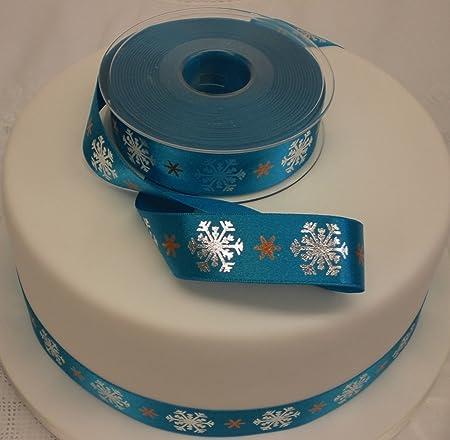 Snowflake Frozen Cake Topper Ribbon Trim 1 Metre Amazoncouk