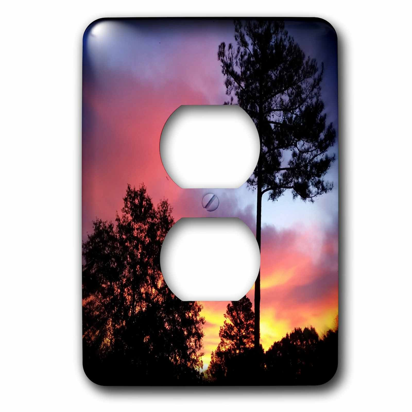 3dRose WhiteOaks Photography and Artwork - Nature Scene - Georgia Fire in the Sky is a photo not enhanced of a Georgia Sky - Light Switch Covers - 2 plug outlet cover (lsp_265356_6)