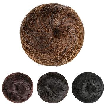 Amazon Synthetic Fiber Hair Up Do Short Hair Extension Donut