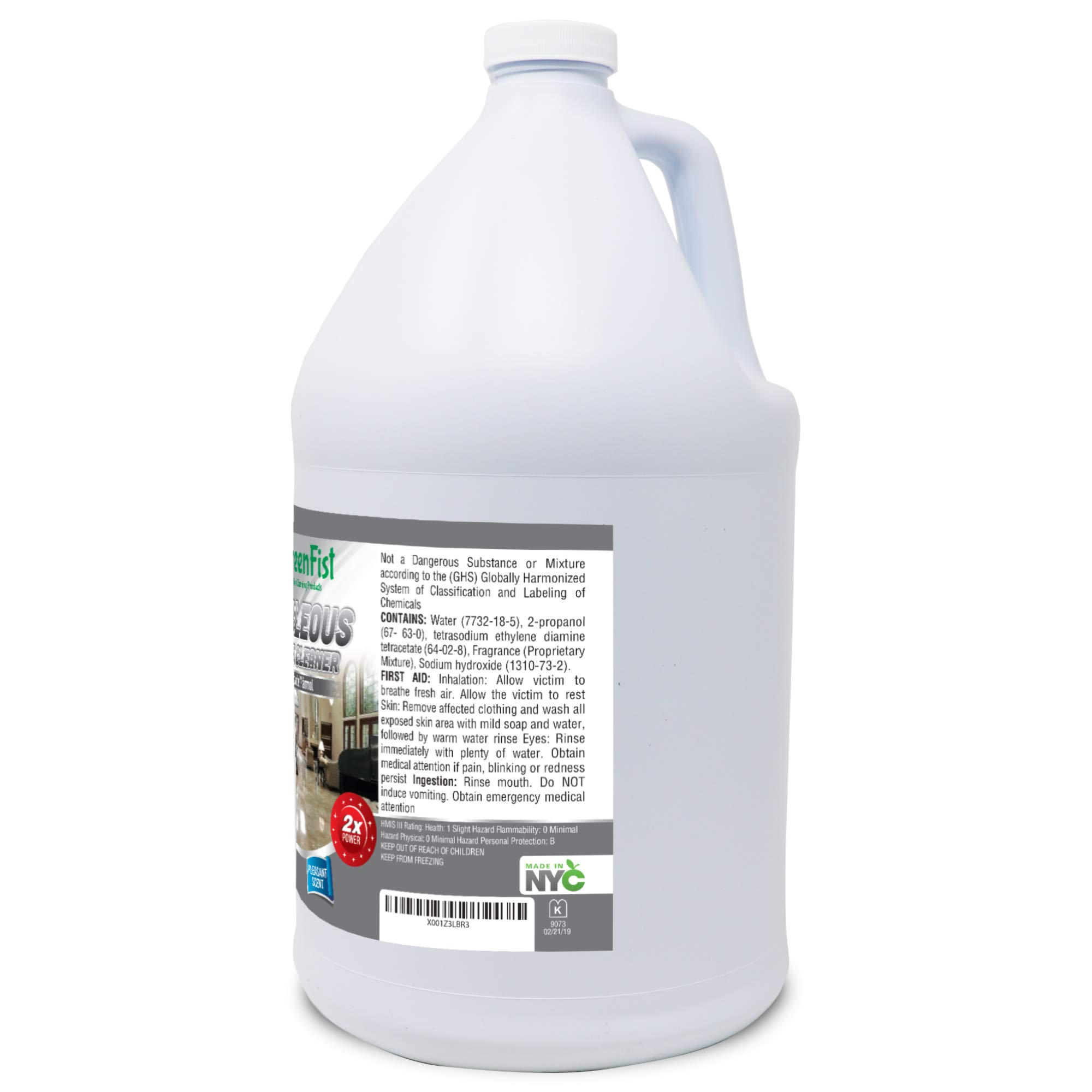 GreenFist Marbleous Marble Cleaner and Other Stone Surfaces Brightener & Restorer [Tile,Countertop,Porcelain,Lime-Stone,Ceramic,Granite,Brick,Vinyl] (1 Gallon) by GreenFist (Image #5)