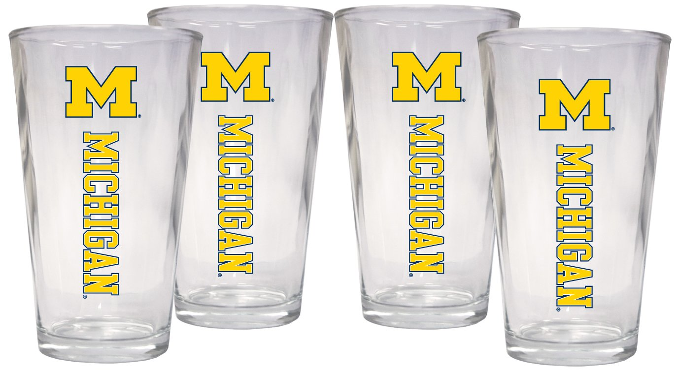Michigan Wolverines 4-Pack 16 oz Pint Glass