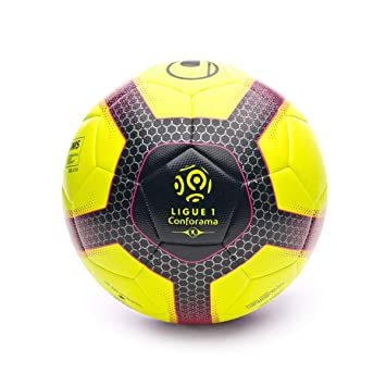 uhlsport Ballons Entrainement Elysia Pro Ligue Adulte Unisexe, Jaune Fluo/Bleu Marine/fu