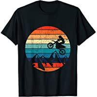 Diseño de motos vintage Motocross Dirt Bike Rider Camiseta