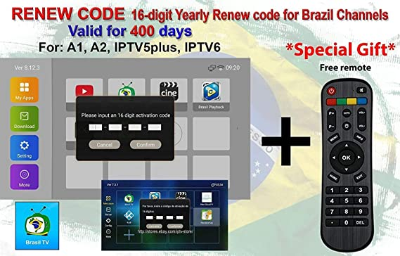 All Box Will Work HTV 1 2 3 5 / A1&A2&A3 / IPTVKINGS/Brazil Box/Super  Brazil IPTV Brazil Subscription 16-Digit Renew Code with Magic Keys Free 1  Extra