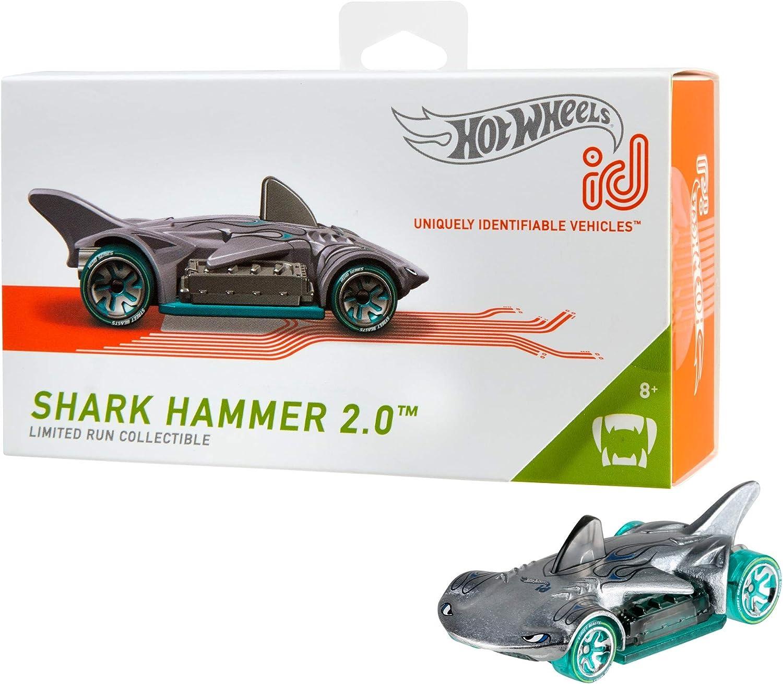 Mattel - Hot Wheels ID Vehículo de juguete, coche Shark Hammer 2.0 , +8 años ( FXB11)
