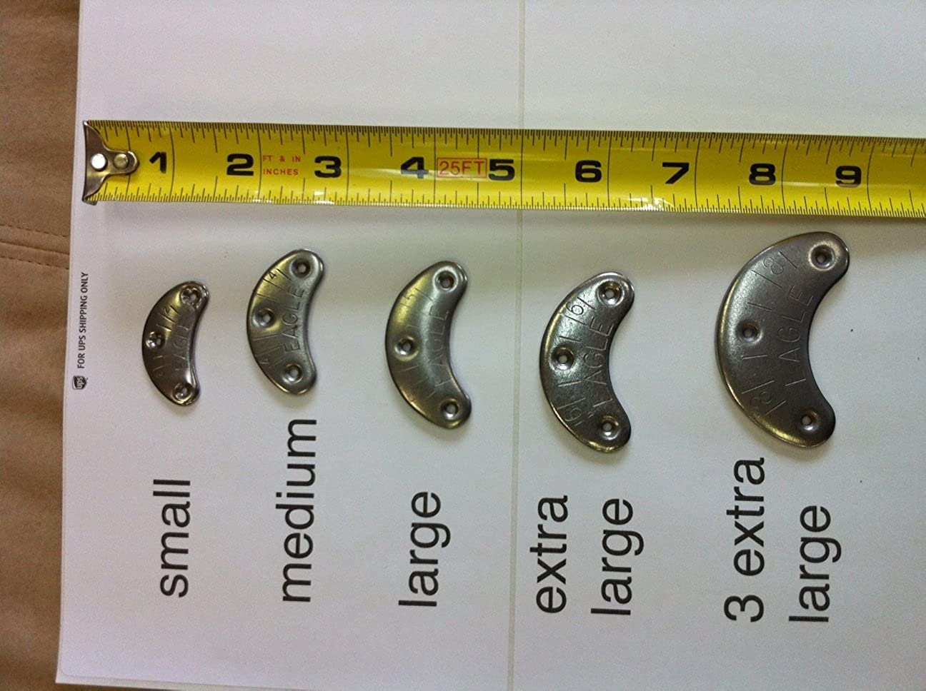 Eagle Shoe and Boot Metal Heel Plates and Nails