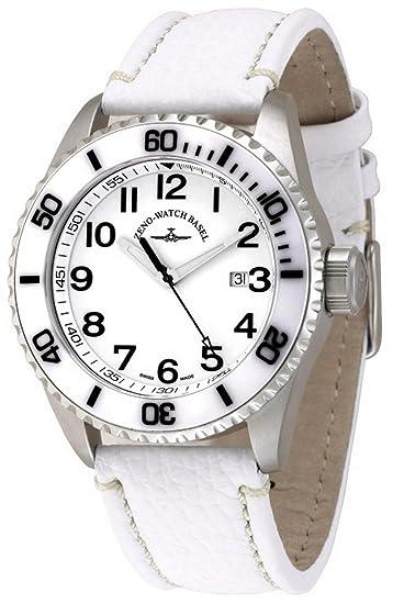 Zeno-Watch Reloj Mujer - Diver Ceramic Quartz white - 6492-515Q-i2-2: Amazon.es: Relojes