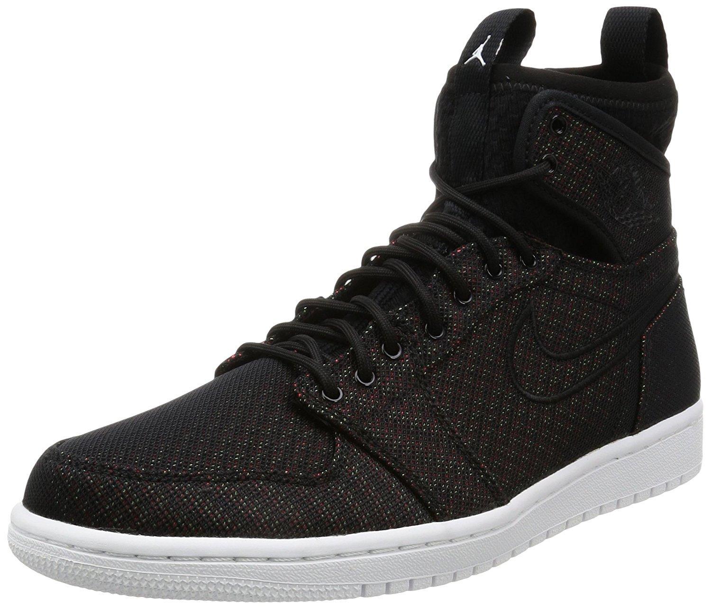 NIKE Air Jordan 1 Retro Ultra High Mens Hi Top Basketball Trainers 844700 Sneakers Shoes (US 7.5, Black Ghost Green Infrared 23 050)