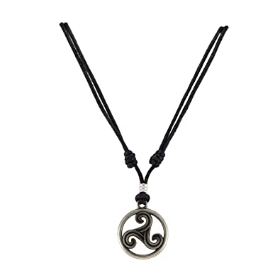 Amazon Triskelion Celtic Symbol Trinity Eternity Pendant On