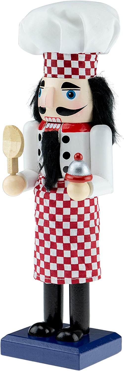 """Clever Creations Wooden Chef Christmas Nutcracker 