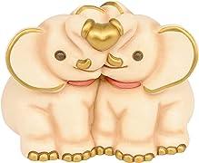 Idea regalo originale perfetta per ogni occasione, ancor di più per la festa della mamma, questa coppia di elefantini è garantita dalla qualità e dal prestigio di tutte le collezioni THUN.