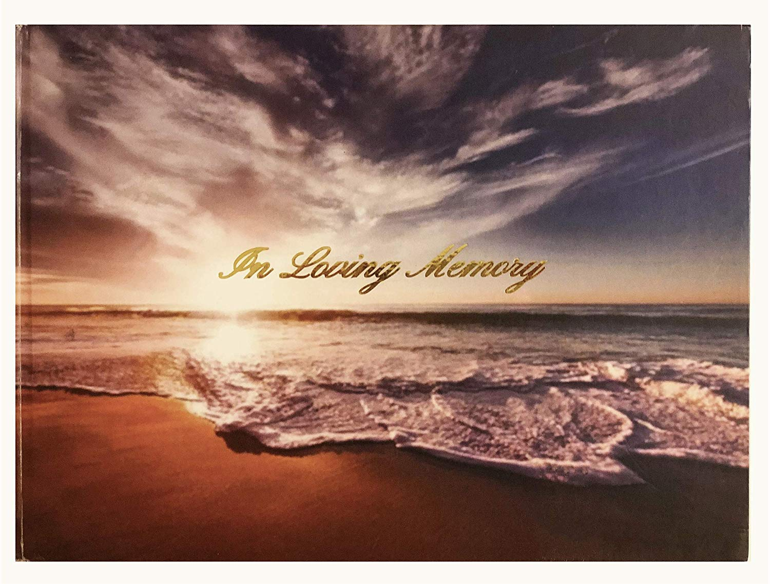 LifeToo (Formerly DTGG) Memorial Guest-Registry Book - Hardcover :in Loving Memory   Spine: A Celebration of Life Ocean Sunset Hardcover Book (Hardcover Book Only) by Life Too