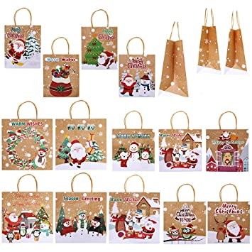Amazon.com: Supla - 14 bolsas de papel kraft para regalo de ...
