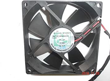 Generic 90 mm rdm9025s 12 V 0.19 A 2 alambre XINRUILIAN Ventilador de cuadrado: Amazon.es: Electrónica
