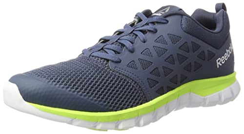 8afe74f6c59 Reebok Men s Sublite Xt Cushion 2.0 Mt Indigo Flash White Pewter Running  Shoes