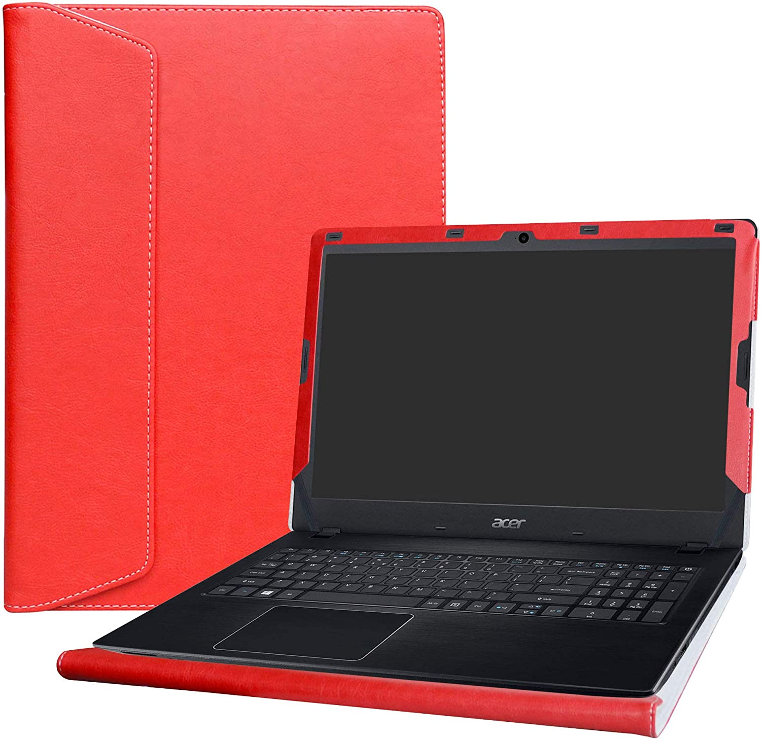 """Alapmk Protective Case Cover for 15.6"""" Acer Aspire E5 E5-575 E5-575G E5-575T E5-576 E5-576G E5-553 E5-553G/Aspire F 15 F5-573G F5-573/Aspire ES 15 ES1-572 ES1-533 Serie Laptop,Red"""