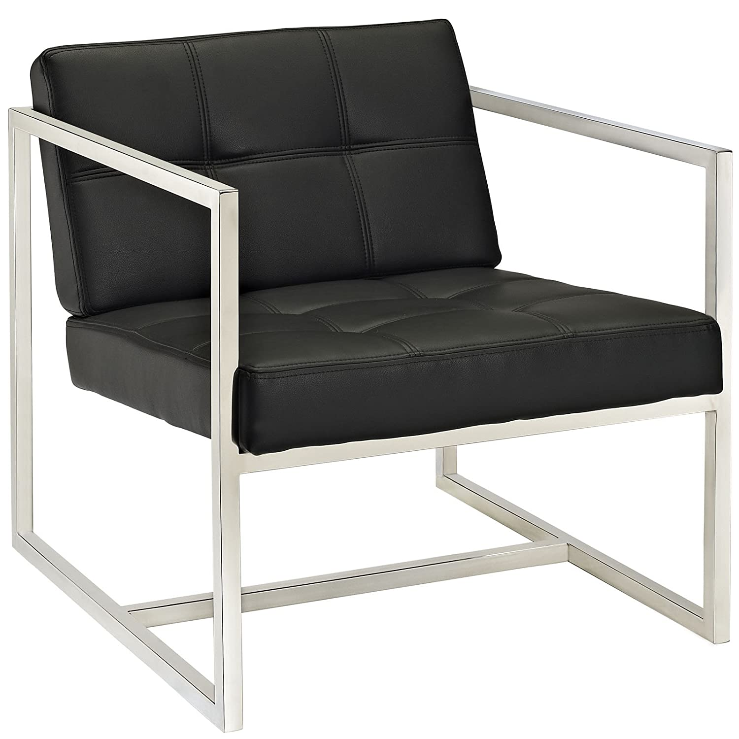 Amazon: Modway Hover Modern Reception Chair, Black: Kitchen & Dining