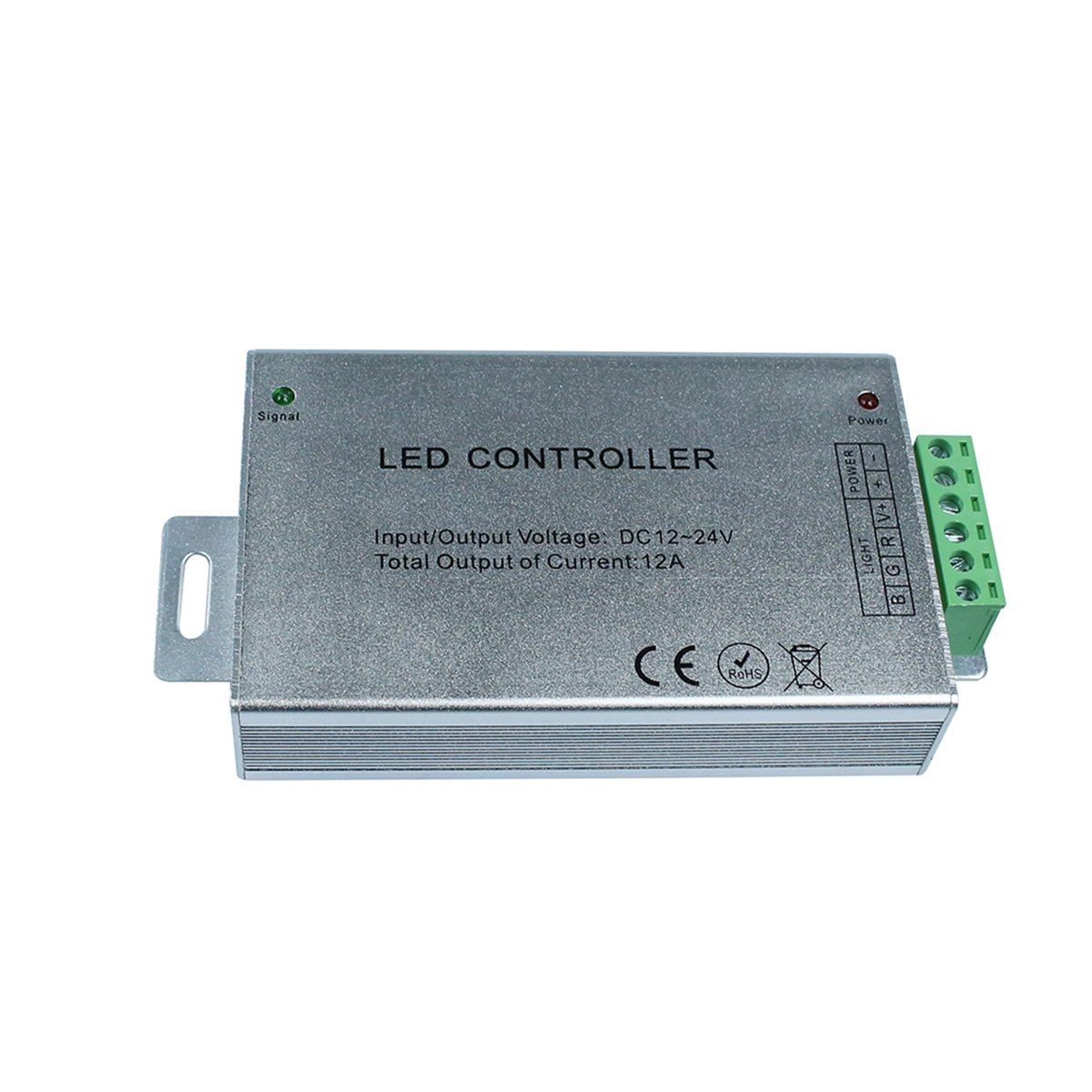 KPBOTL DC12-24V 12A RGB led controller, IR controller with 44 Key Remote control,Aluminum light controller for 3528 5050 RGB led strips by KPBOTL (Image #3)