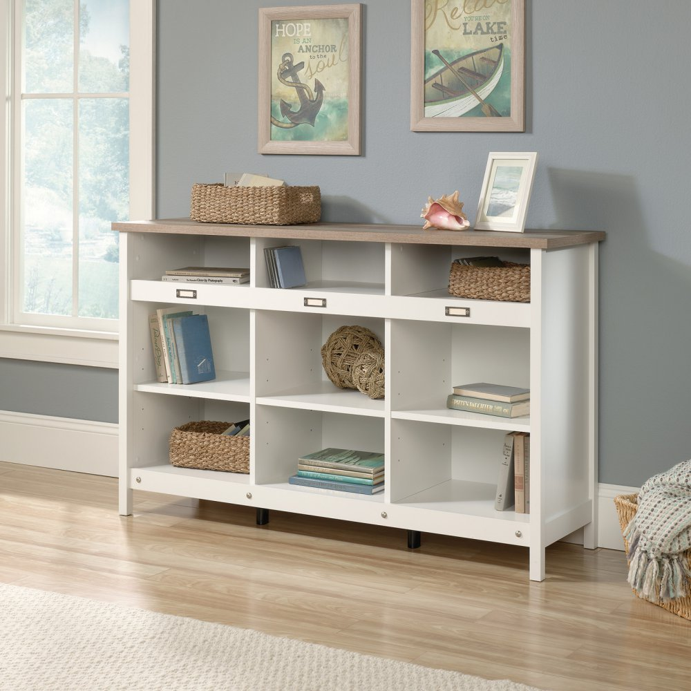 Sauder Adept 9 Cubby Storage Unit in Soft White