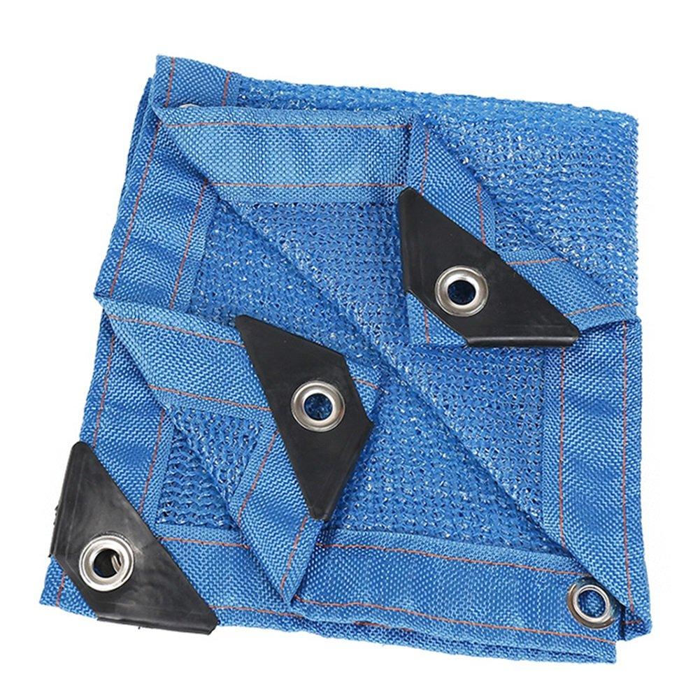 HAIPENG Schattierungsnetz Schatten Netting Plane Blatt Bodenbedeckungen Sonnencreme Mesh Wärmeisolierung Windschutz Schwerlast (Farbe   Blau, größe   2.8x5m)