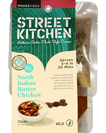 Street Kitchen North Indian Butter Chicken (255g) + FREE Recipe   Heat U0026 Eat