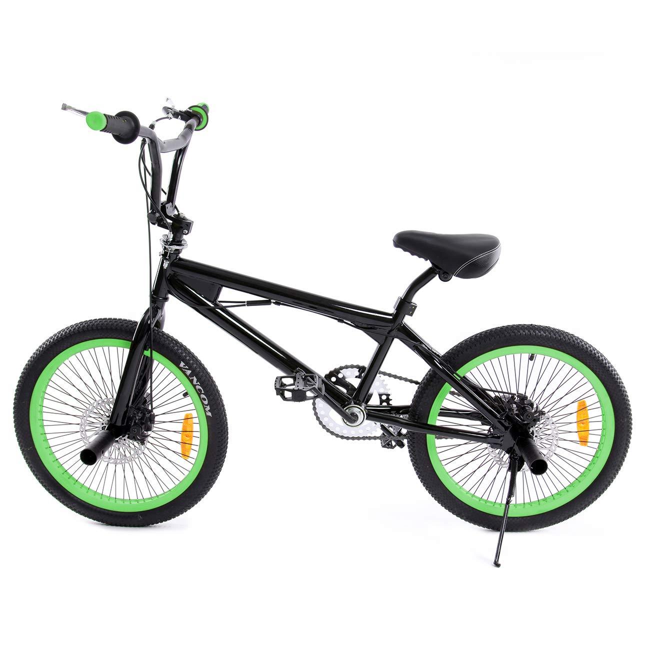 Ridgeyard Bicicleta BMX Free-style 20 pulgadas Rotor 360 °4 clavijas bmx bikes (Negro + Rojo) Ridgeyard Co .ltd