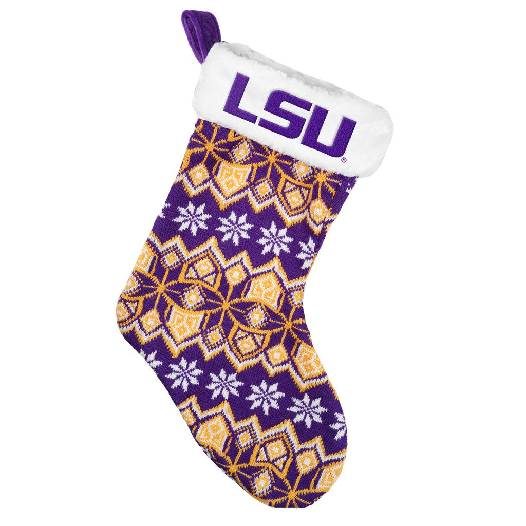 Forever Collectibles LSU Tigers Knit Holiday Stocking - 2015