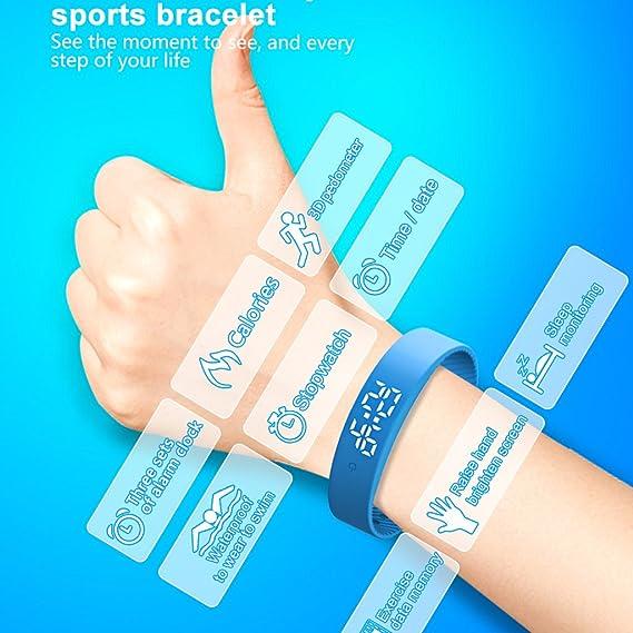 cokc Non-Bluetooth Pedometer Smart Watch Bracelet Smart Wristband Pedometer Fitness Tracker Watch [No App & Phone Needed] for Kids Men Women Walking ...