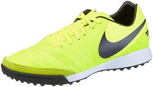 39aac6990f0a Nike Men's Tiempo X Mystic V TF Football Boots, Green Black/Volt, 7 ...