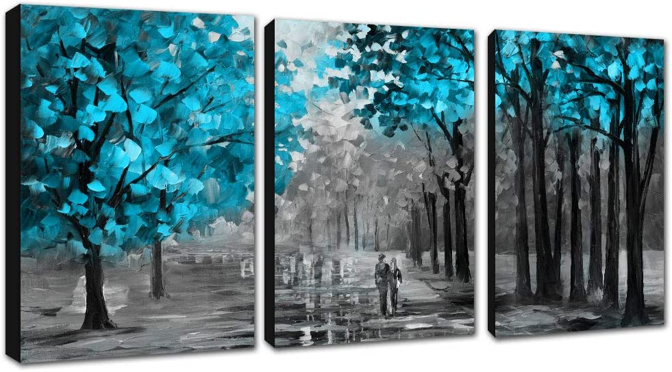 FajerminArt 3 Panel Modern Abstract Canvas Painting,Decorative Paintings Painting Art Suitable Living Room, Ready to Hang, Stretch On Frame Size (12x16inx3 Panel)(Wooden Frame)