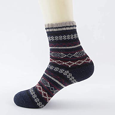 Winter Thick Warm Stripe Wool Socks Casual Calcetines Hombre Sock,01
