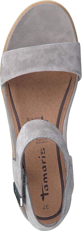 Tamaris 1-1-28031-22 Femme Sandales compensées,Sandales,Sandales compensées,Chaussures d\'été,Confortable,Plat,Touch-IT Cloud