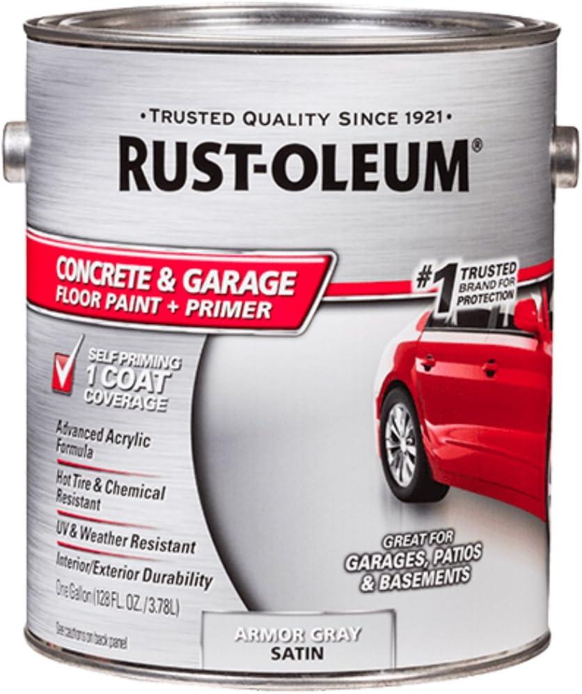 Rust Oleum 225380 Concrete And Garage Floor Paint Battleship Gray