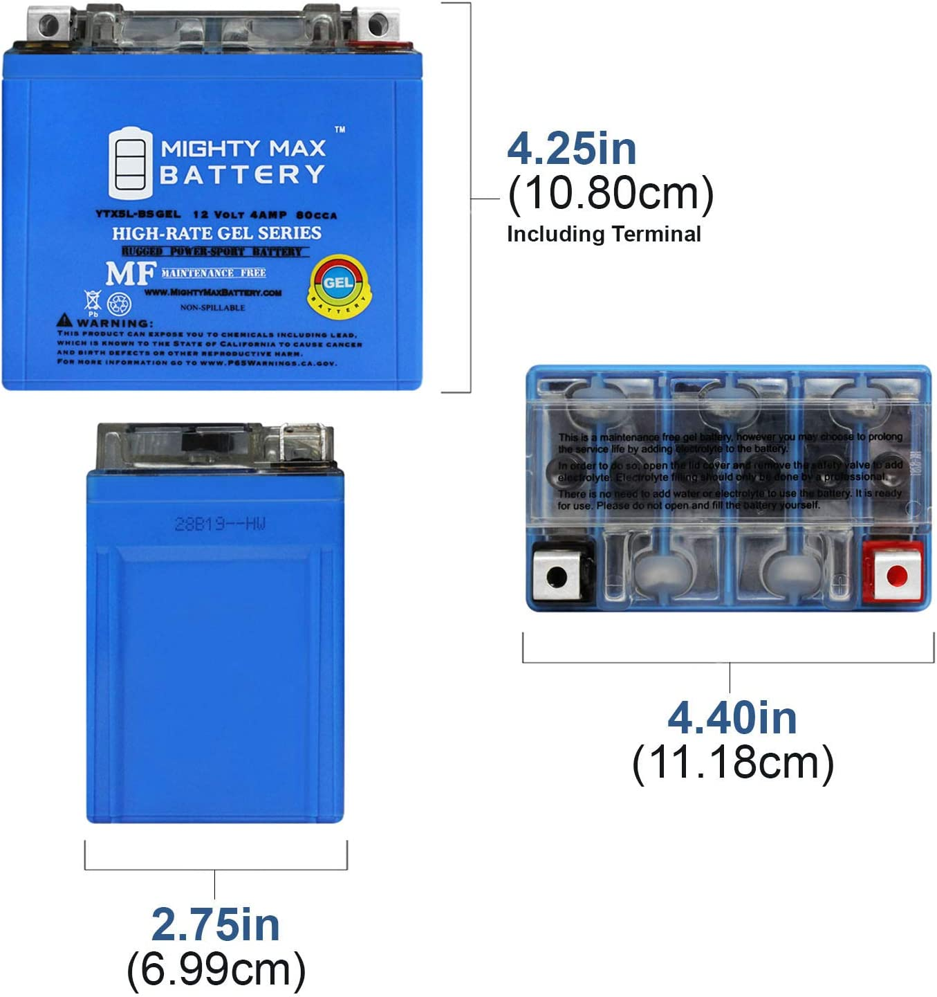 AGM Gel Battery Fit For Yamaha YFM 350 FXM Wolverine 2000