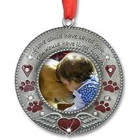 BANBERRY DESIGNS in Loving Memory Pet Ornament - Pet Memorial Christmas Photo…