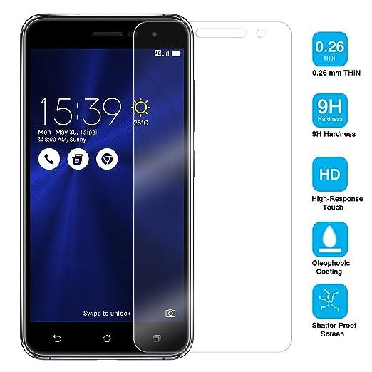 2 opinioni per Ambaiyi Premium in Pellicola Protettiva Vetro Temperato per Asus Zenfone 3
