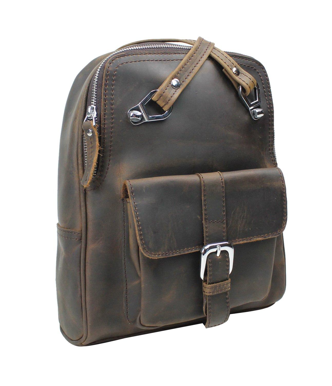 Vagabond Traveler Full Grain Cowhide Leather Backpack LK13 by Vagabond Traveler