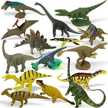 Amazon.com: 36 piezas Mini Dinosaurios Juguetes para Cupcake ...
