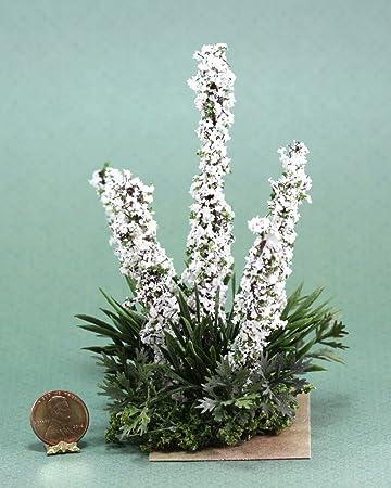 Amazon dollhouse miniature white larkspur flowers in flower bed dollhouse miniature white larkspur flowers in flower bed by creative accents mightylinksfo