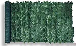 Patio Paradise 4' x 12' Faux Ivy Privacy Fence Screen with Mesh Back-Artificial Leaf Vine Hedge Outdoor Decor-Garden Backyard Decoration Panels Fence Cover