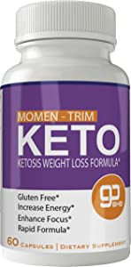 Momentrim Keto Weight Loss Pills, Advanced Momen Trim Natural Ketogenic BHB Burn Fat Supplement, 800 mg Formula with New True Slim GO BHB Salts Formula, Advanced Appetite Suppressant Capsules