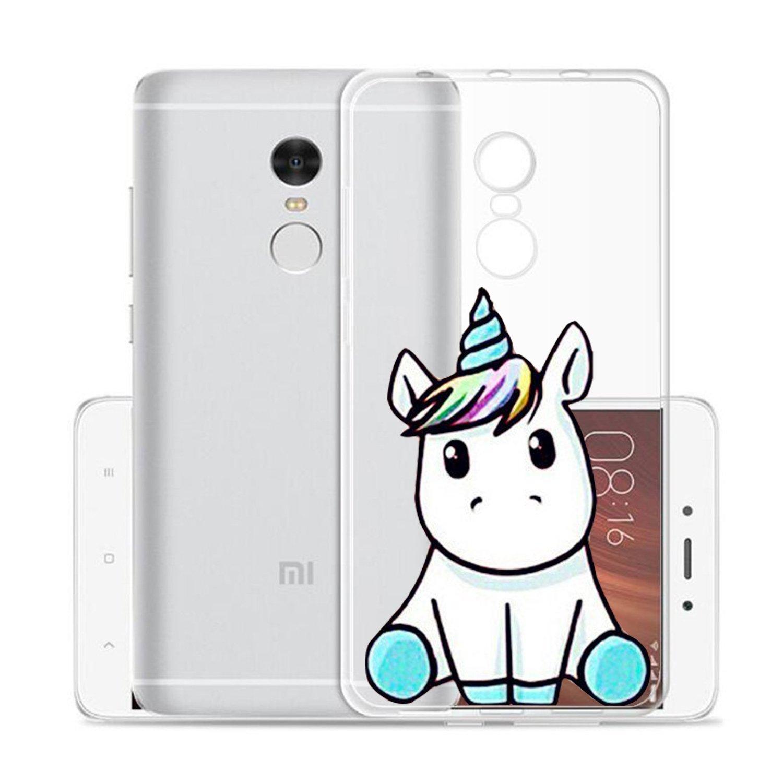 Funda Xiaomi Redmi Note 4 / Xiaomi Redmi Note 4X Lindo unicornio Mariposas Suave TPU Silicona Anti-rasguños Protector Trasero Carcasa Para Xiaomi ...