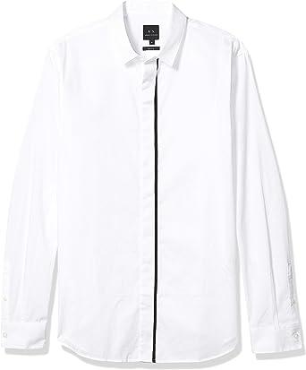 Armani Exchange - Camisa para Hombre, Color Blanco, 6GZC56: Amazon.es: Ropa y accesorios