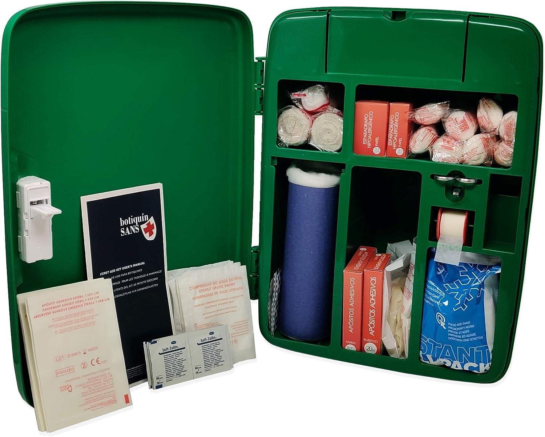 Botiquín Armario de primeros auxilios, para pared, equipado con 95 artículos, verde: Amazon.es: Salud y cuidado personal