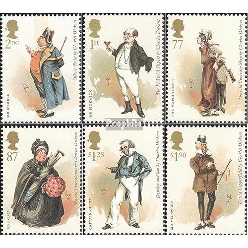 Royaume-Uni 3272-3277 (complète.Edition.) 2012 Anniversaire charles dickens (Timbres pour les collectionneurs)