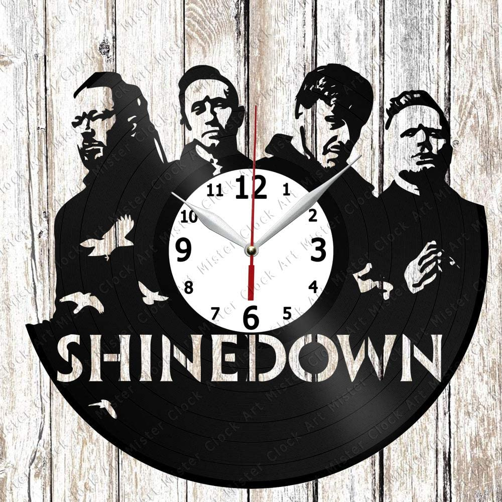 Vinyl Clock - Vinyl Wall Clock - Shinedown - Handmade Original Gift - Custom Design - Personalised Vinyl Record Wall Clock - Unique Art Home Decor -