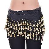 W&W Black Belly Dance Skirt Hip Scarf