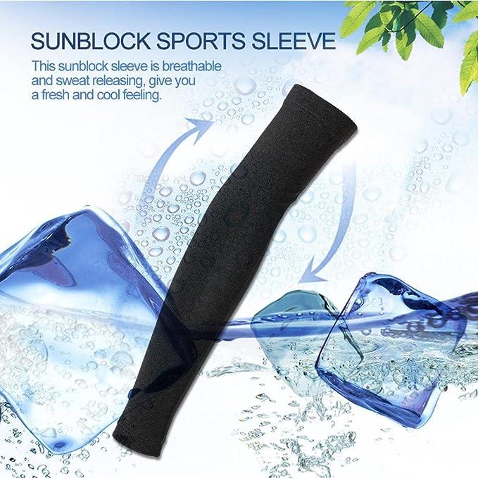 Dilwe Arm /Ärmel Armlinge UV-Schutz Sommer atmungsaktiv Schwei/ß Releasing Arm /Ärmel Kompression